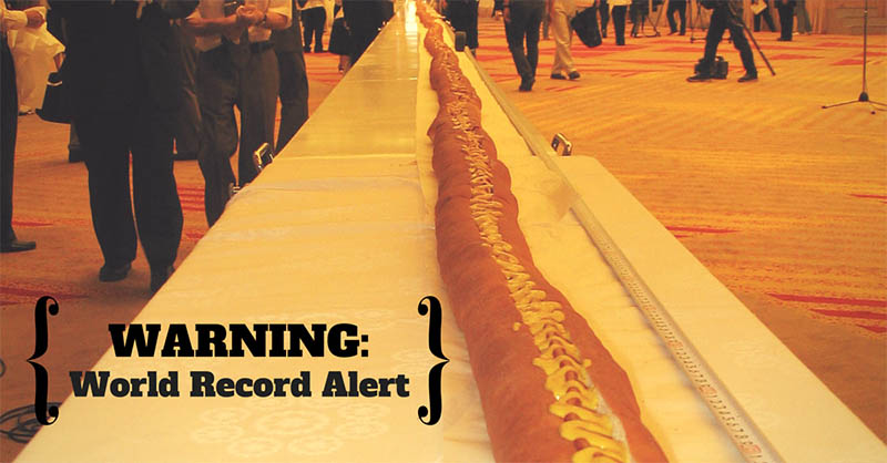 World Record History – see August 14, 2005 – we made it!